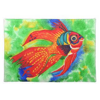 Tropical Fish design placemat Cloth Placemat