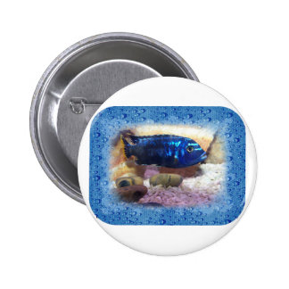 Tropical Fish Digital Watercolor 2 Inch Round Button