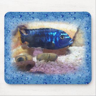 Tropical Fish Digital Watercolor Mouse Pad