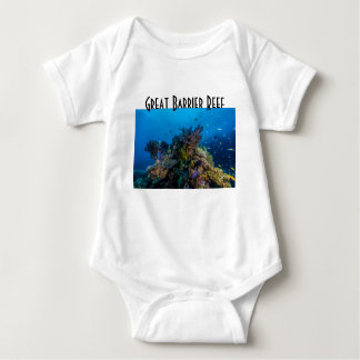 Tropical Fish Great Barrier Reef Coral Sea Baby Bodysuit