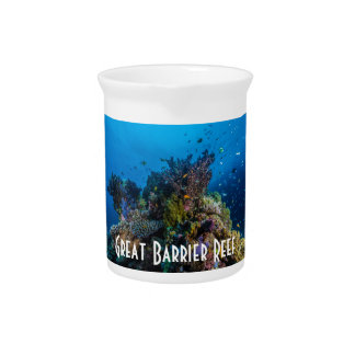 Tropical Fish Great Barrier Reef Coral Sea Beverage Pitchers
