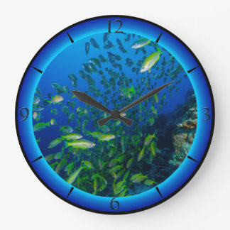 Tropical Fish Great Barrier Reef Coral Sea Large Clock