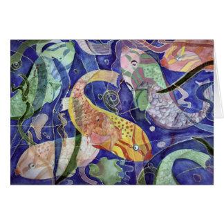 Tropical Fish Greeting Card from original artwork