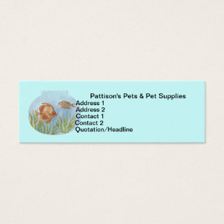 Tropical Fish in a Bowl Business Card