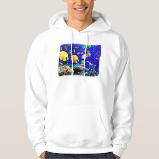 Tropical Fish in Coral Sea Hoodie
