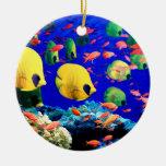 Tropical Fish in Coral Sea Ornaments