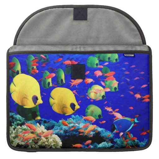 Tropical Fish in Coral Sea Sleeve For MacBooks