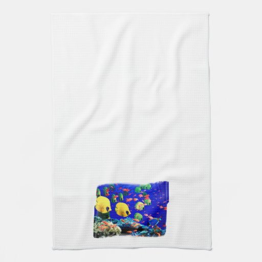 Tropical Fish in Coral Sea Towel
