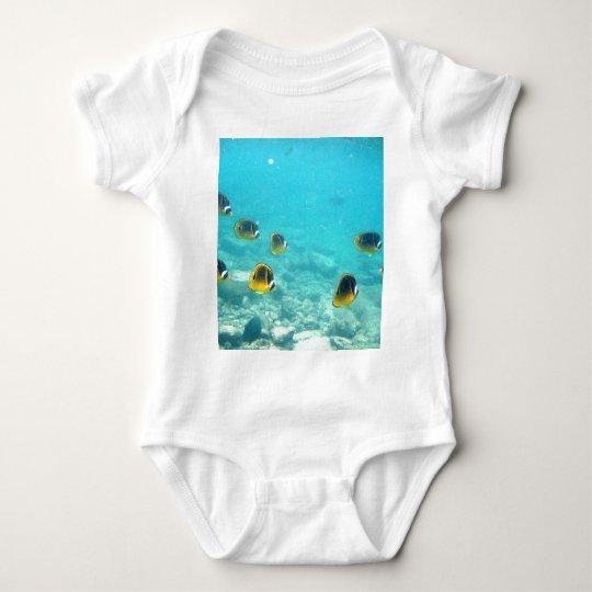 Tropical Fish in Hawaii Baby Bodysuit