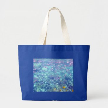 Beach Themed Tropical Fish Jumbo Tote Bag