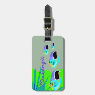 Tropical Fish Travel Bag Tag