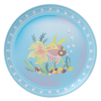 Tropical Fish on Coral Reef Plate