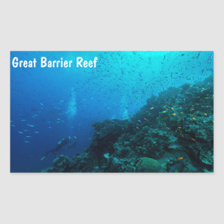 Tropical Fish on the Great Barrier Reef Rectangular Sticker