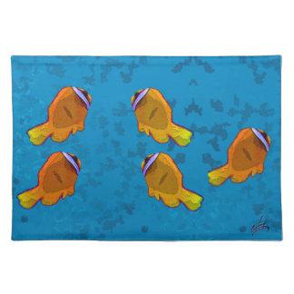 tropical fish orange placemat