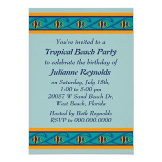 Tropical Fish Party Invitation