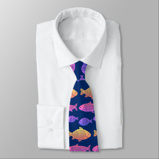 Tropical Fish Pattern Tie