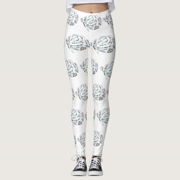 Beach Themed Tropical Fish Patterned Leggings