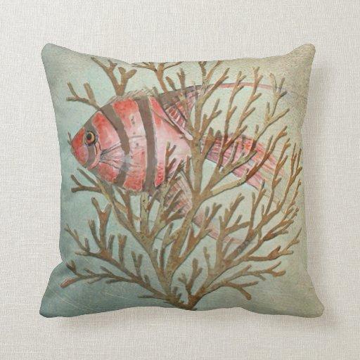 Tropical fish pillow copyright karen j williams throw pillows for Fish throw pillows