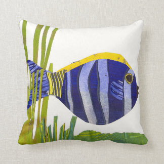 Tropical Fish Pillow - Purple