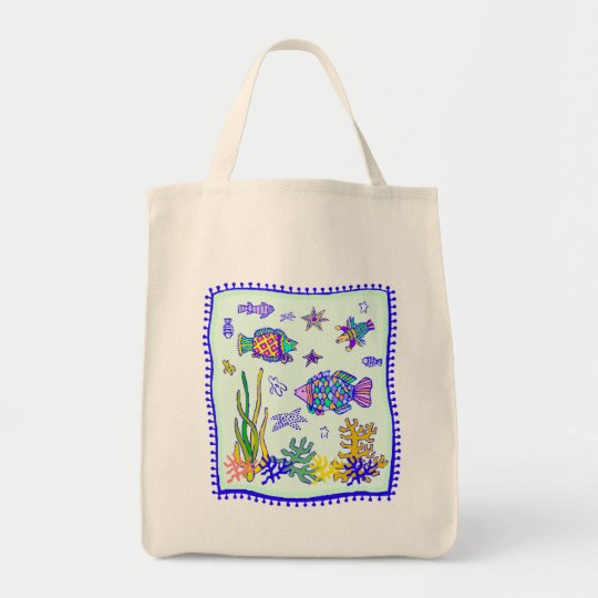 Tropical Fish Quilt Tote Bag