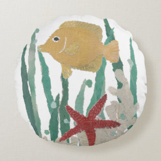 Tropical Fish Round Pillow