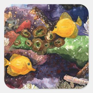 Tropical Fish Square Sticker