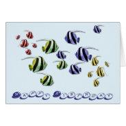 Tropical Fish Swimming Birthday Card at Zazzle