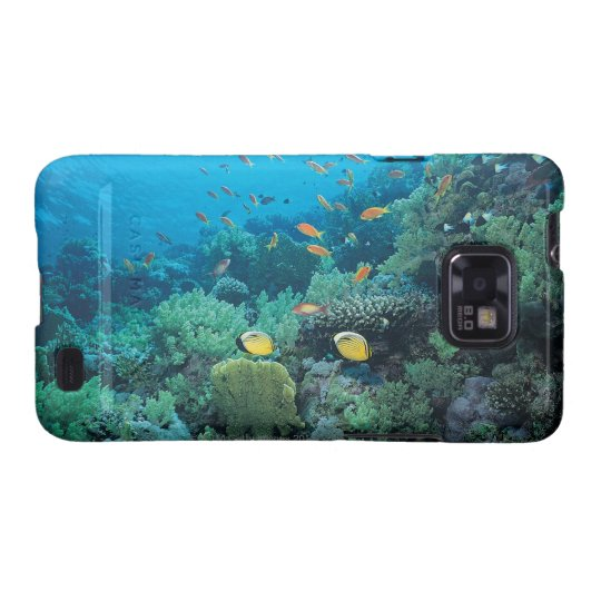 Tropical fish swimming over reef galaxy SII case