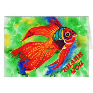 Tropical fish Thank you greeting card
