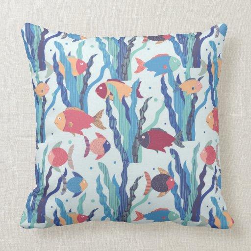 Tropical fish throw pillow zazzle for Fish throw pillows