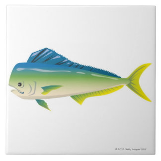 Tropical Fish Large Square Tile