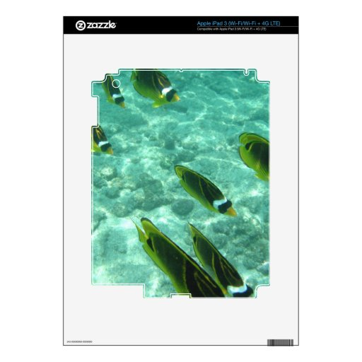 Tropical Fish Underwater Skin For iPad 3