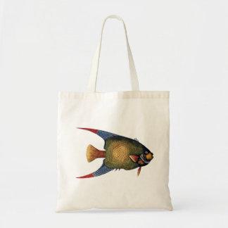 Tropical fish vintage illustration tote bag