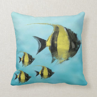 Tropical fish  water color  decor pillow