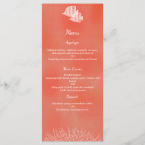 Tropical fish watercolor wedding menu