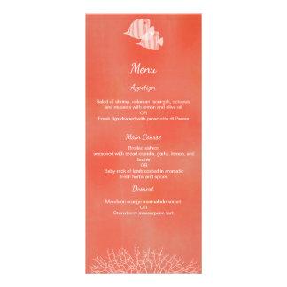 Tropical fish watercolor wedding menu