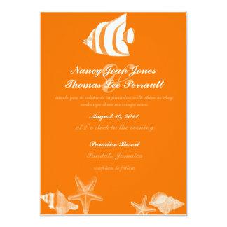 Tropical Fish Wedding Invitation