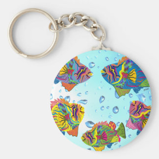 Tropical Fish Whimsical Art Gifts Basic Round Button Keychain