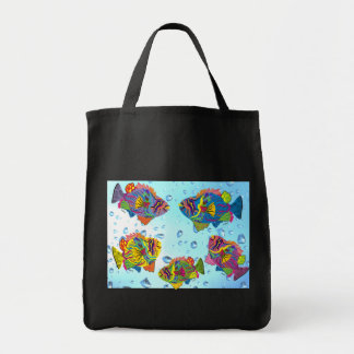 Tropical Fish Whimsical Art Gifts Grocery Tote Bag