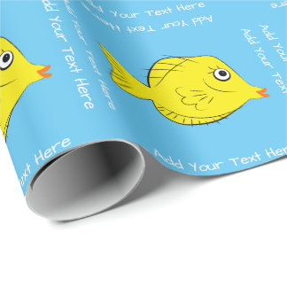 Tropical Fish Yellow Tang Aquarium Wrapping Paper
