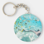Tropical fishes key chain