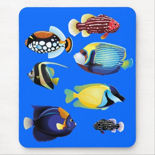 Tropical Fishes Mouse Pads