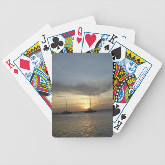 Tropical Fishing Boats Bicycle Playing Cards