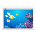 Tropical FishTank Custom Invites