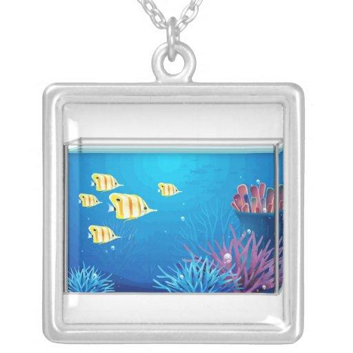 Tropical FishTank Custom Necklace
