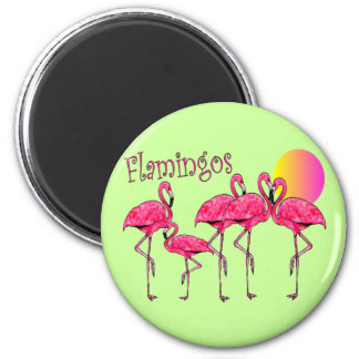 Tropical Flamingo Art Gifts 2 Inch Round Magnet