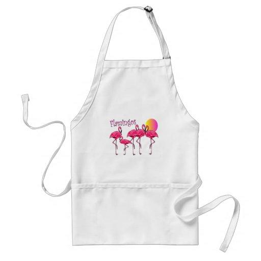 Tropical Flamingo Art Gifts Adult Apron