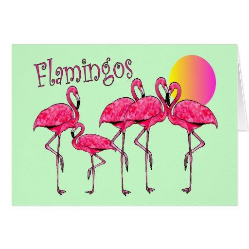 Tropical Flamingo Art Gifts Card