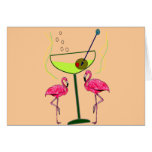 Tropical Flamingo Art Gifts Greeting Cards