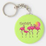 Tropical Flamingo Art Gifts Key Chains